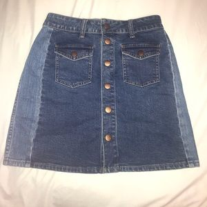 Two toned jean skirt from Madewell!!
